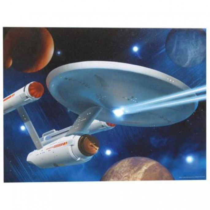 Star Trek Enterprise Lighted Canvas Wall Art 12x16