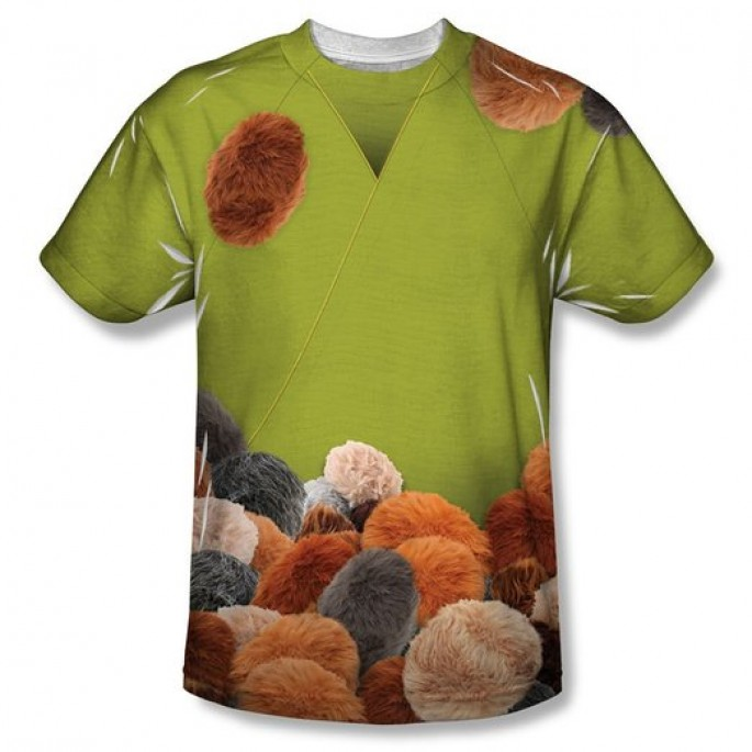 Star Trek Kirk Tribbles Sublimation Single Sided Adult T-shirt