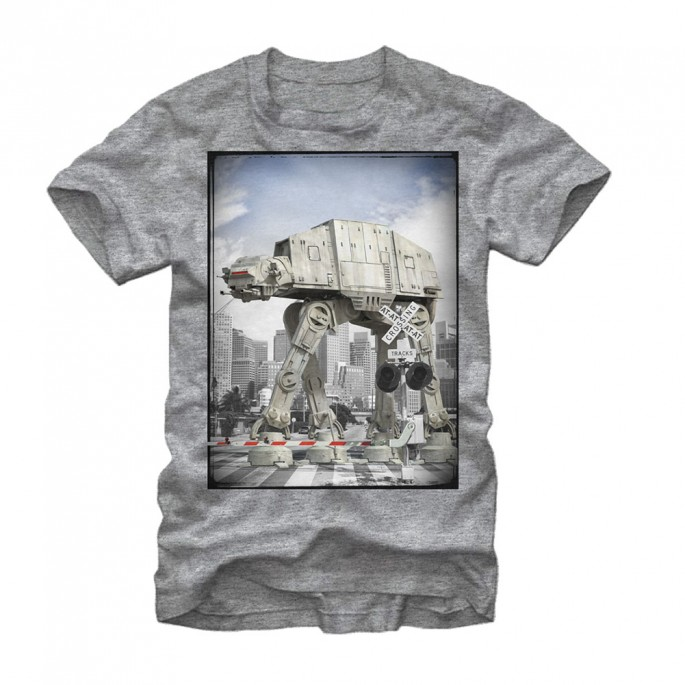 Star Wars At-At Crossing Adult T-shirt