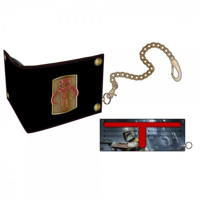 Star Wars Boba Fett Bi-Fold Snap Chain Wallet