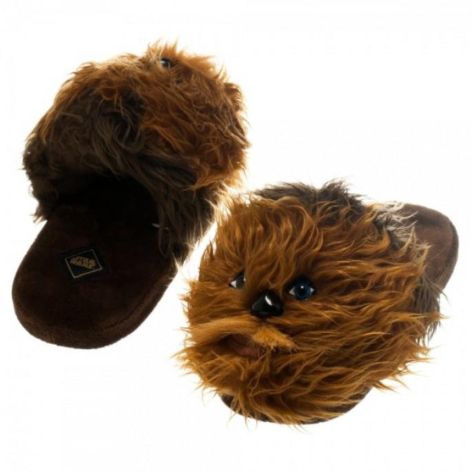 Star Wars Bioworld Chewbacca Plush Slippers - Medium