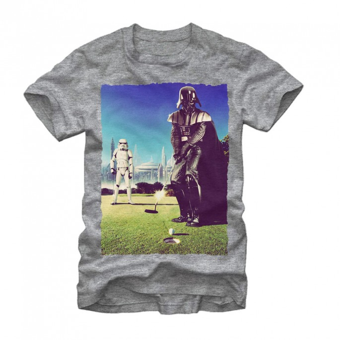 Star Wars Golf Vader Adult T-shirt