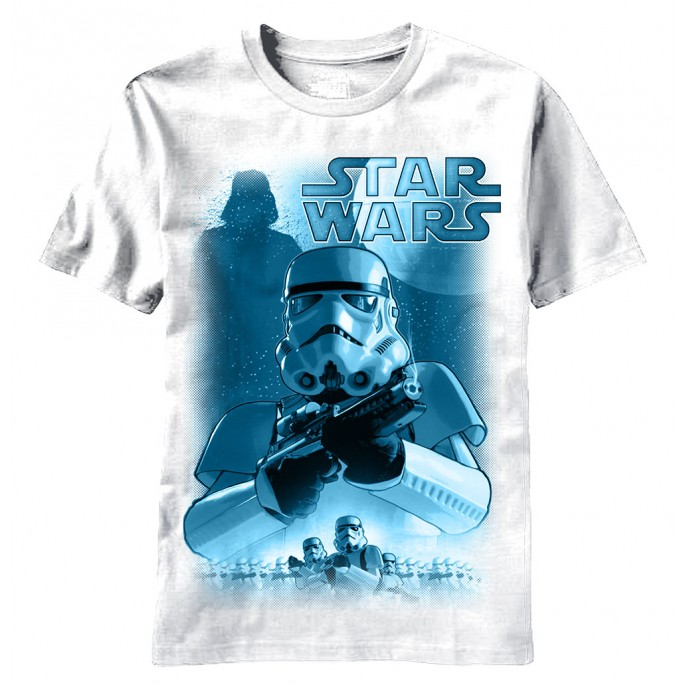 Star Wars Stormtroopers On Post Adult T-Shirt