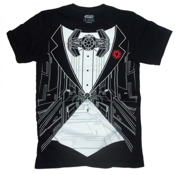 Star Wars Death Star Trench Tuxedo Style Adult T-Shirt