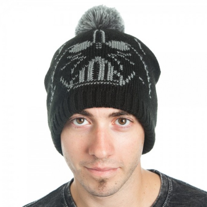 Star Wars Vader Jacquard Knit Beanie with Pom