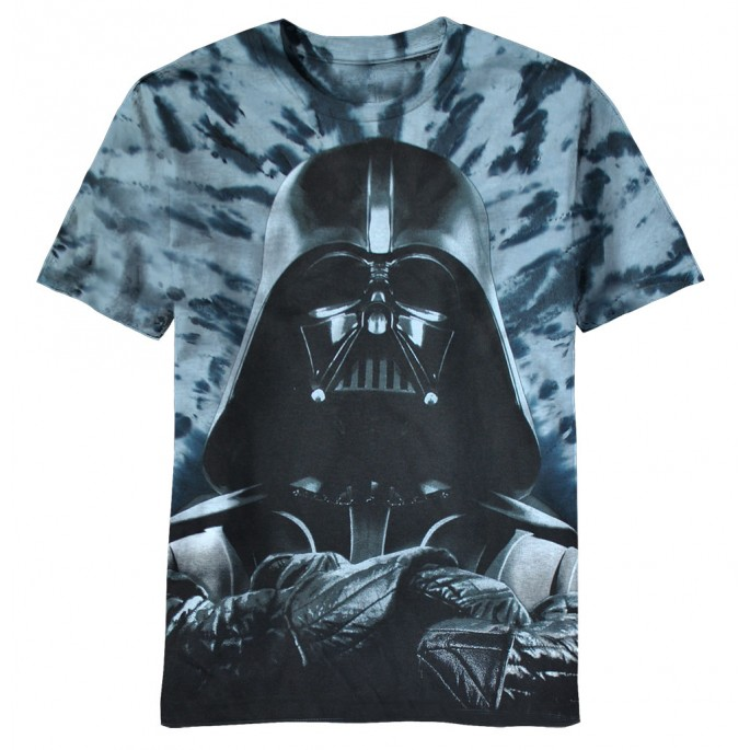 Star Wars Vader Laid Back Stance Tie-Dyed Adult T-shirt