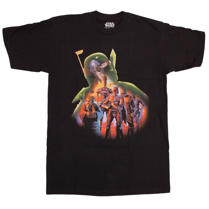 Star Wars Boba Fett Fill Crew Black Adult T-Shirt