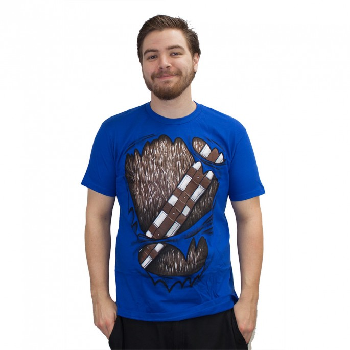 Star Wars Wookied Out Royal Blue Adult T-Shirt