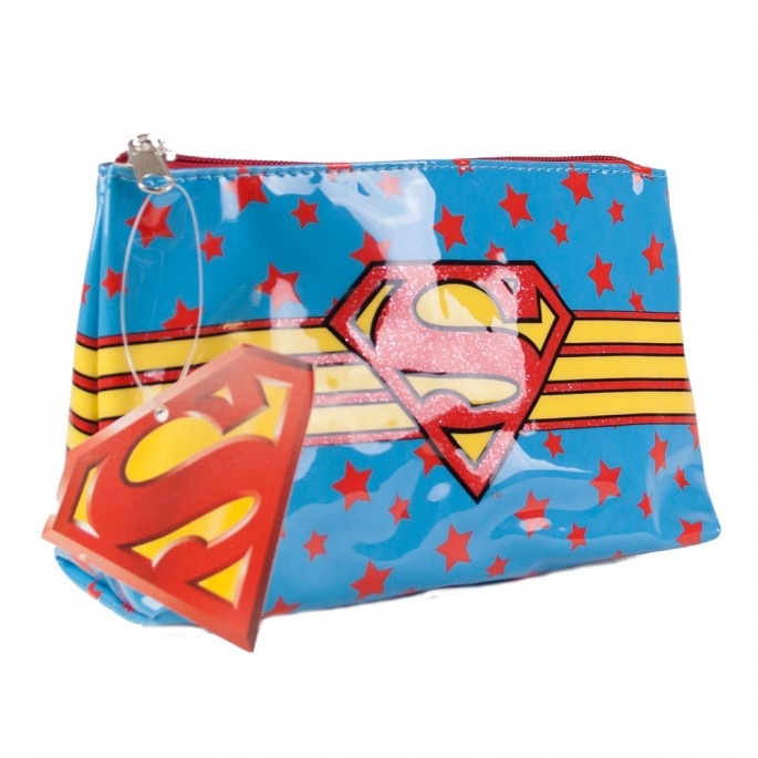 Supergirl Shield Logo Make Up Bag