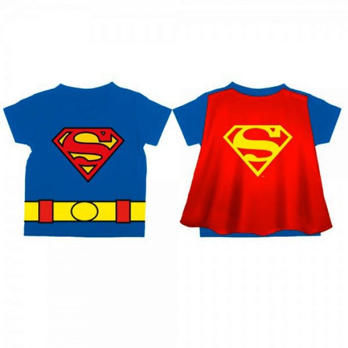 Superman Logo Toddler's Blue Cape T-Shirt