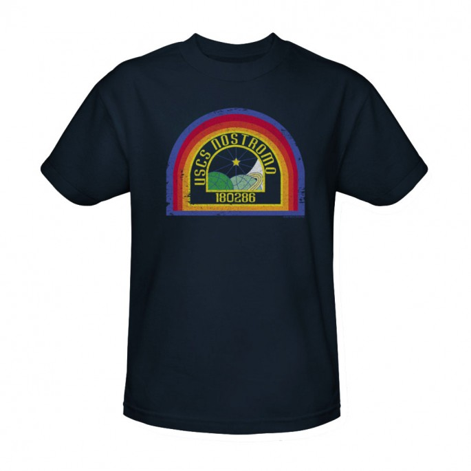 Alien Nostromo Logo Adult T-Shirt