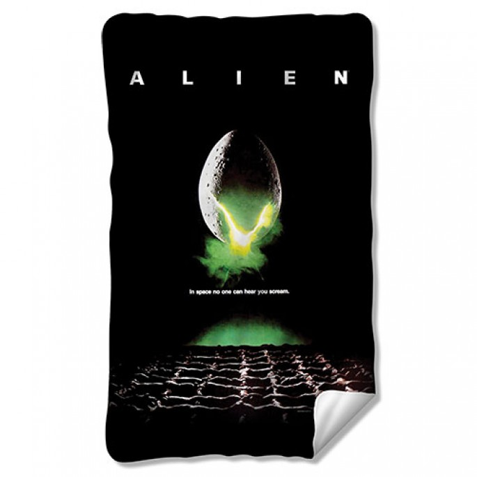 Aliens Poster Fleece Blanket