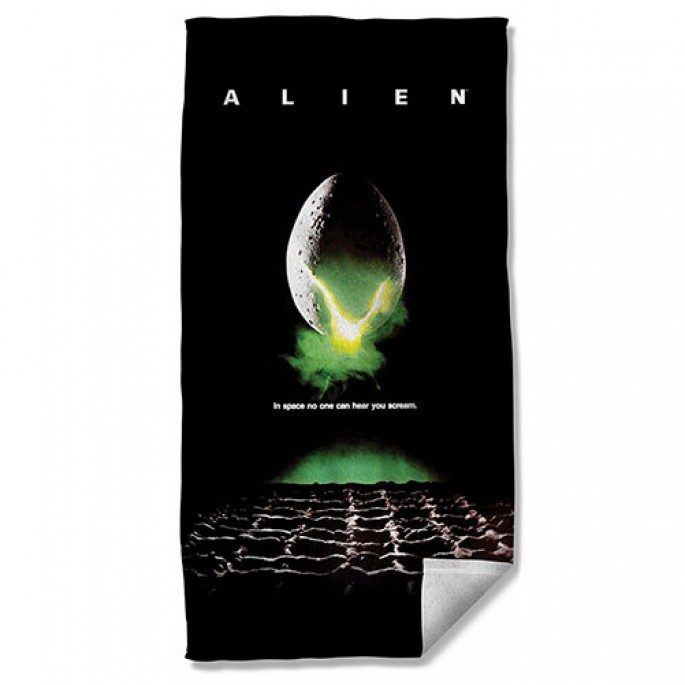 Aliens Poster Beach Towel