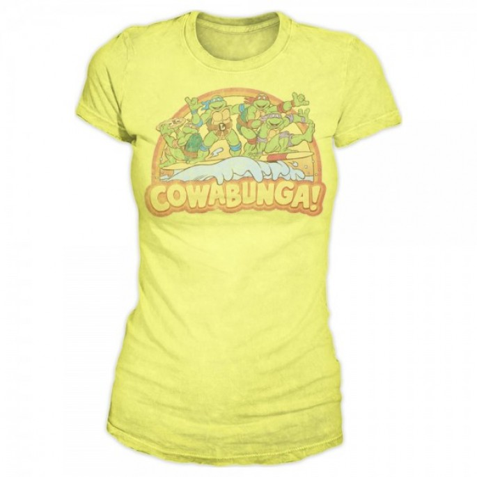 Teenage Mutant Ninja Turtles Cowabunga! Juniors Yellow T-Shirt