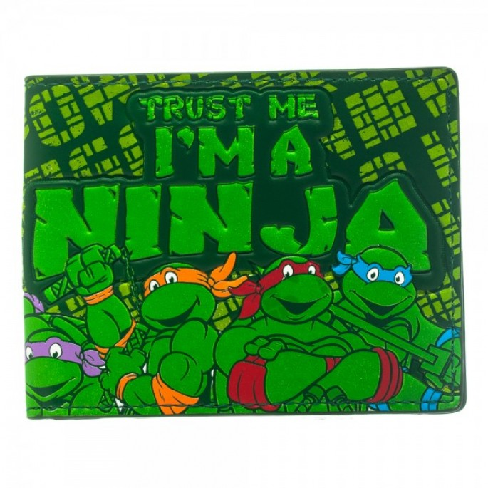 Teenage Mutant Ninja Turtles I'm a Ninja Fat Free Bi-Fold Wallet