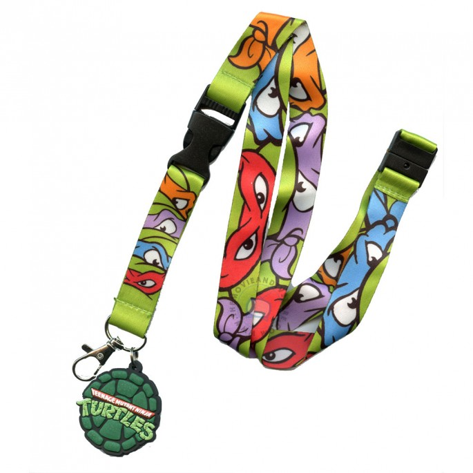 Teenage Mutant Ninja Turtles Masks Lanyard with Pizza Charm