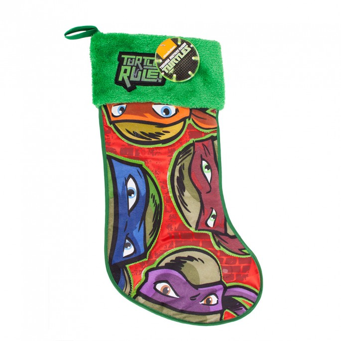 "Kurt Adler 19"" Teenage Mutant Ninja Turtles Applique Stocking"