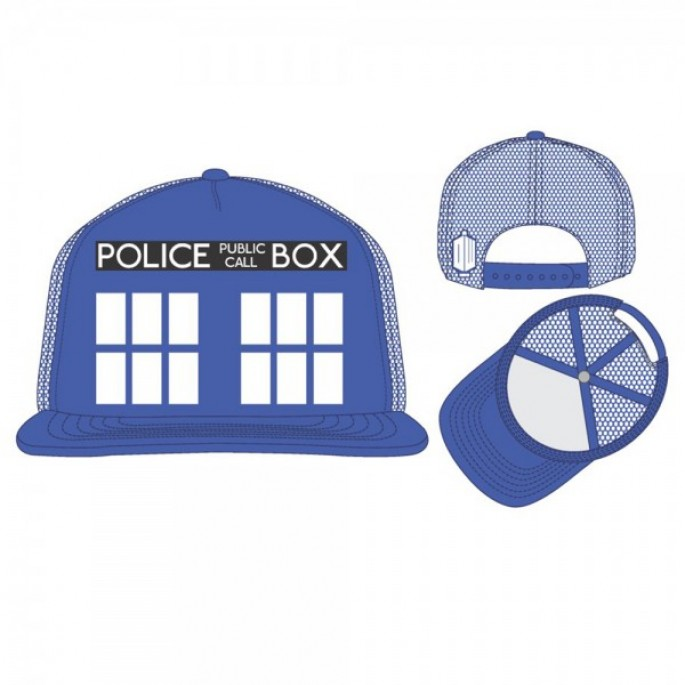 Dr. Who Blue Tardis Trucker