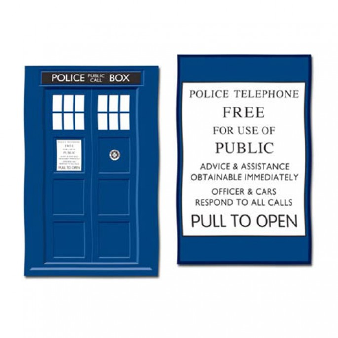 Doctor Who TARDIS Tea Towel 2-Pack