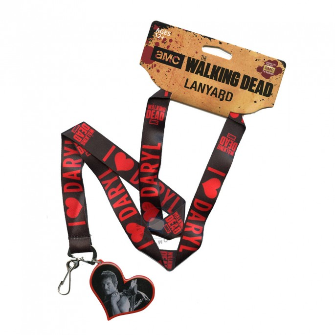 Walking Dead Daryl Love Heart Lanyard