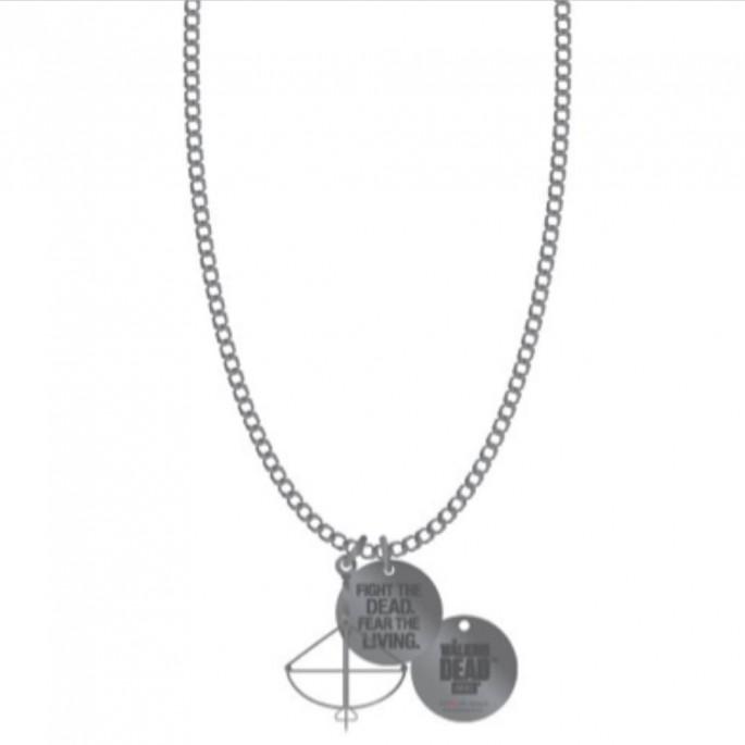 Walking Dead Fear The Living Crossbow Necklace