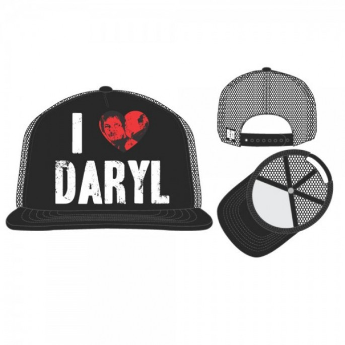 Walking Dead I Heart Daryl Black Trucker Cap