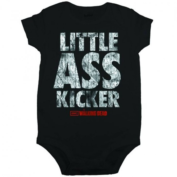 The Walking Dead Little Ass Kicker Baby Romper Snapsuit