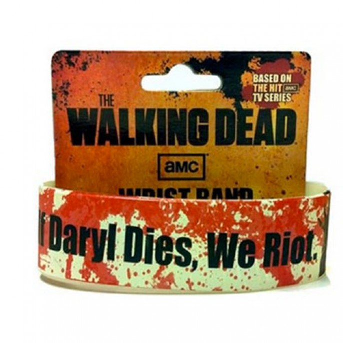 Walking Dead If Daryl Dies, We Riot Wristband