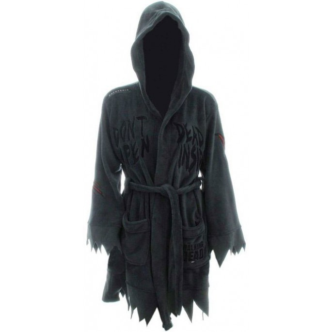 The Walking Dead Do Not Open Women's Large/X-Large Cotton Bathrobe