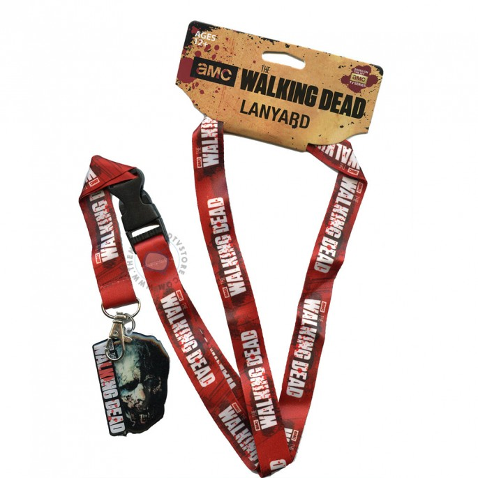 Walking Dead Zombie Face Lanyard