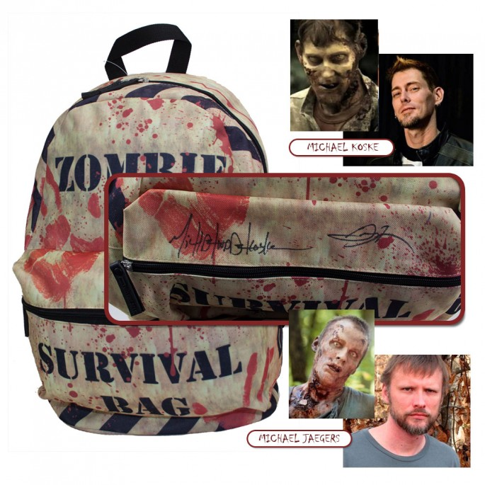 Walking Dead Zombie Survival Backpack - Signed by Two Walkers!