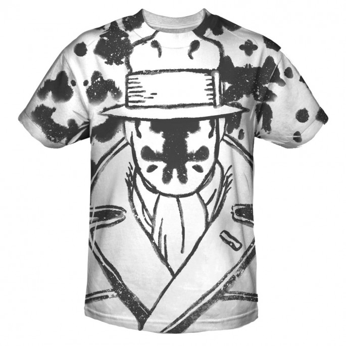 Watchmen Rorschach Sublimation Print Polyester Adult T-shirt