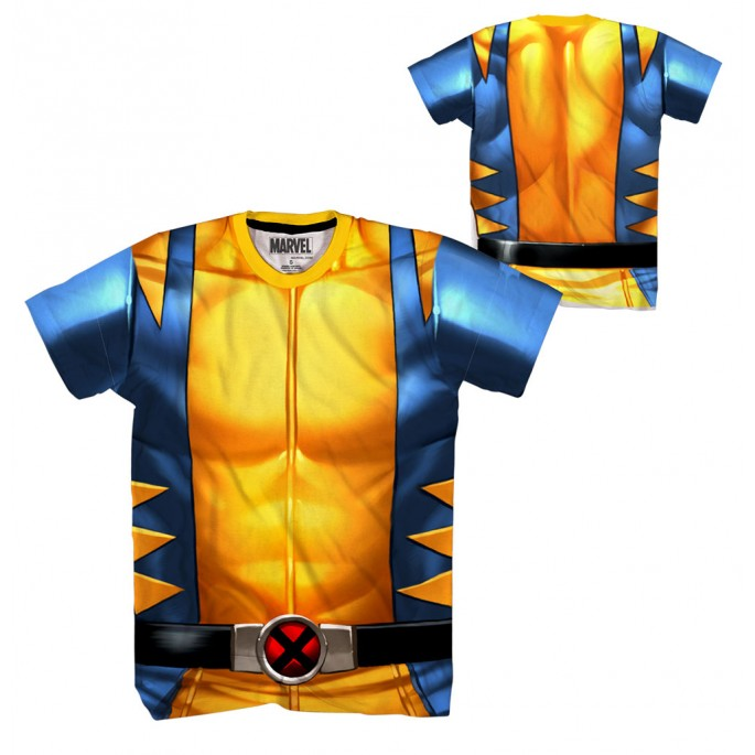 Wolverine Wolvey Chest Sublimation Costume Adult T-Shirt