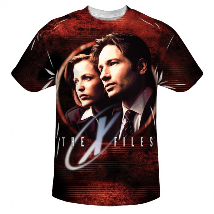 X-Files Truth Seekers Single Sided Sublimation Adult T-shirt