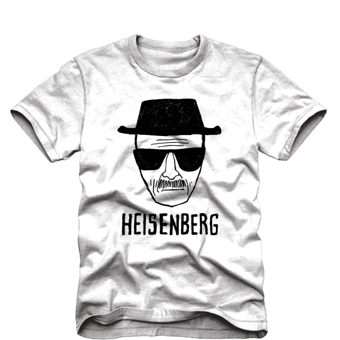 Breaking Bad Heisenberg Sketch Adult T-Shirt