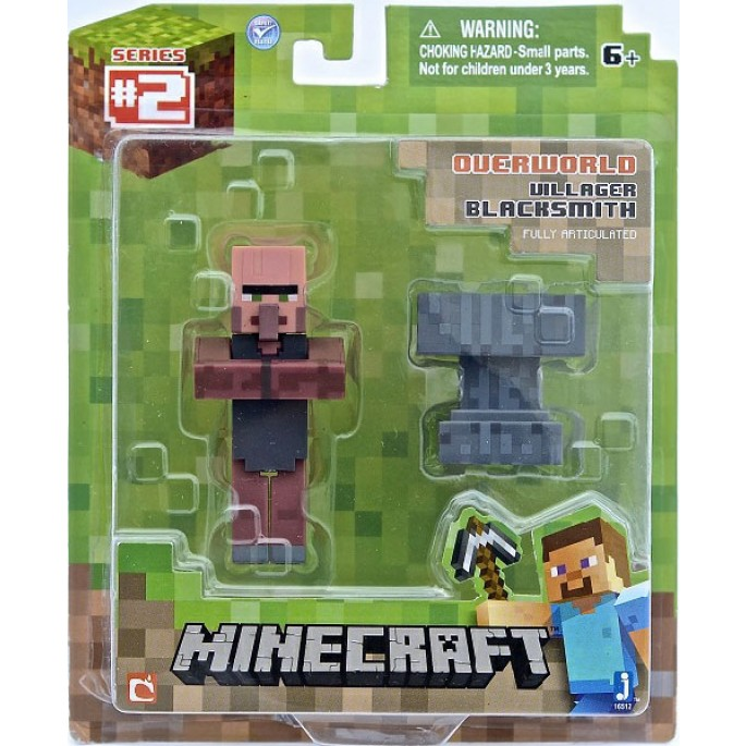 Minecraft Blacksmith Villager with Accessory Action Figure