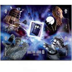 Doctor Who 50th Anniversary UK Postage Stamps Miniature Sheet