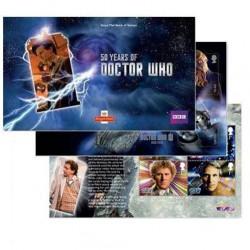 Doctor Who 50th Anniversary Prestige UK Postage Stamp Book