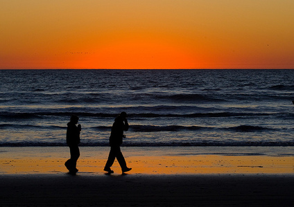 I love you and ... couple at sunset