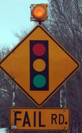 Fail street sign