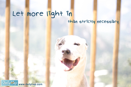 let more light in