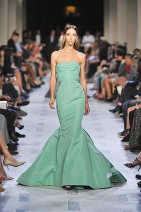 emerald green zac posen