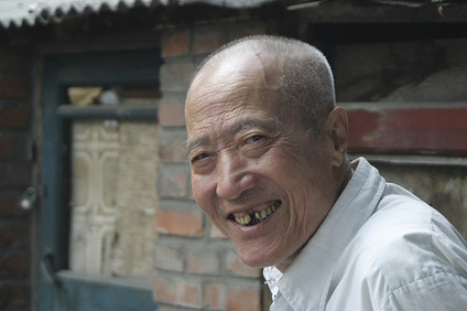 old man laughing