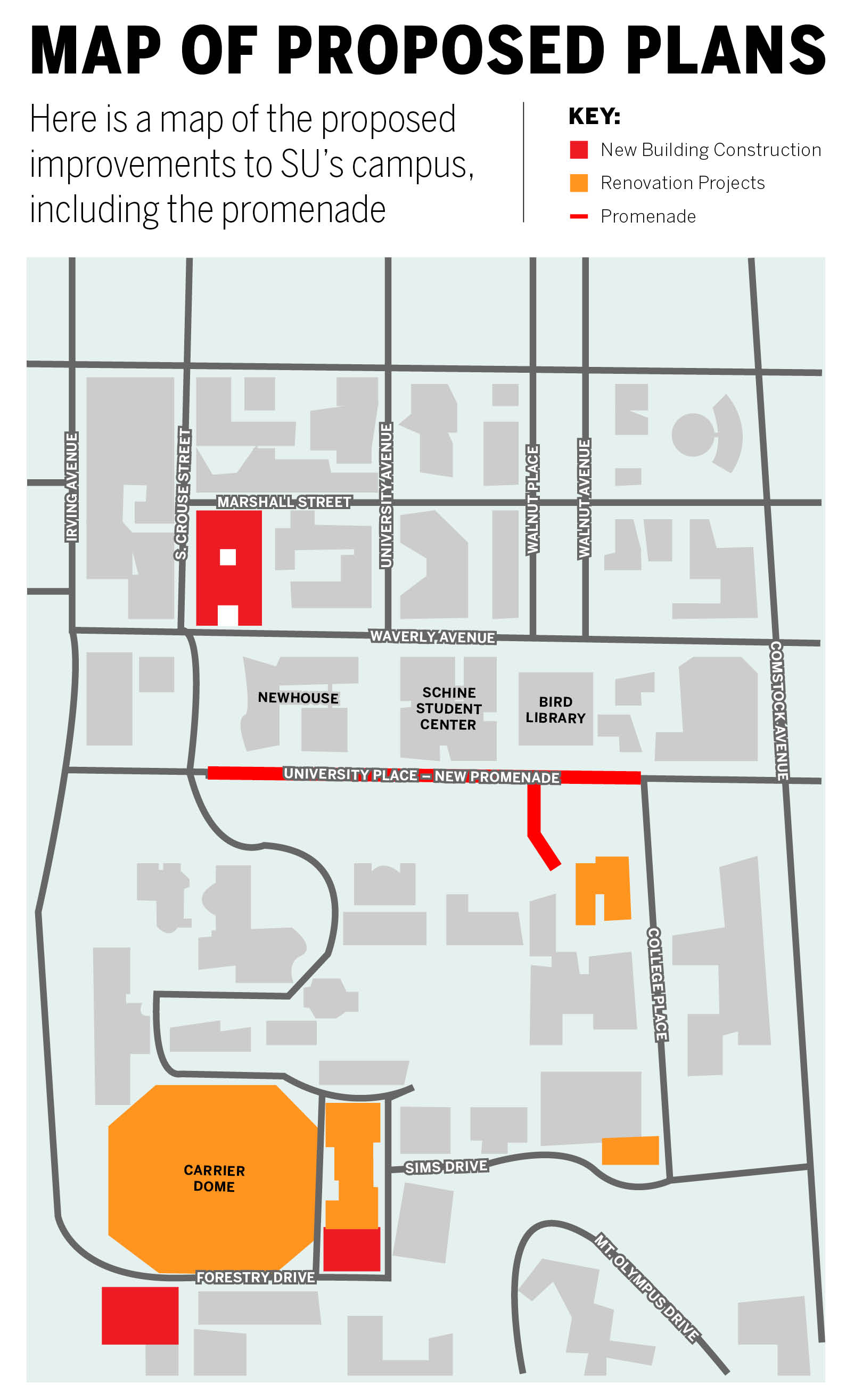 Promenade Map The Daily Orange The Independent Student Newspaper