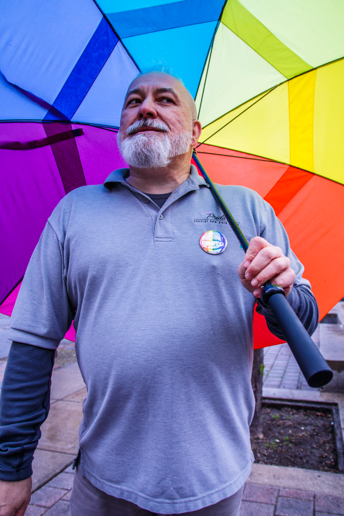 Bob Forbes, proud president of the CNY(Central New York )Pride, a LGBT organization.