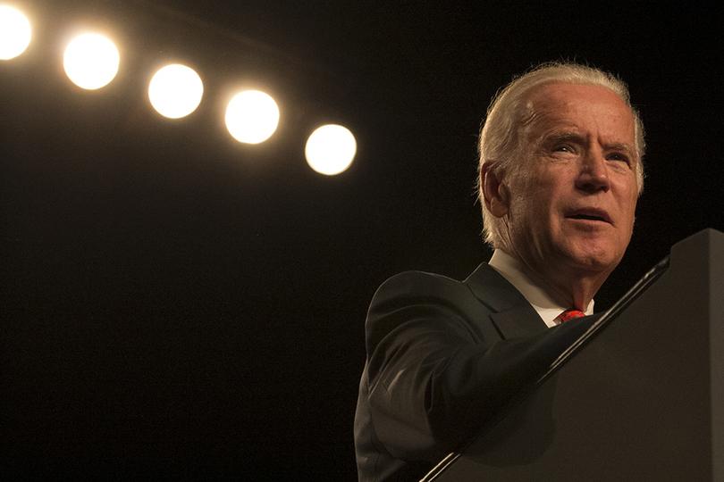 Former Vice President Joe Biden speaks at Syracuse.