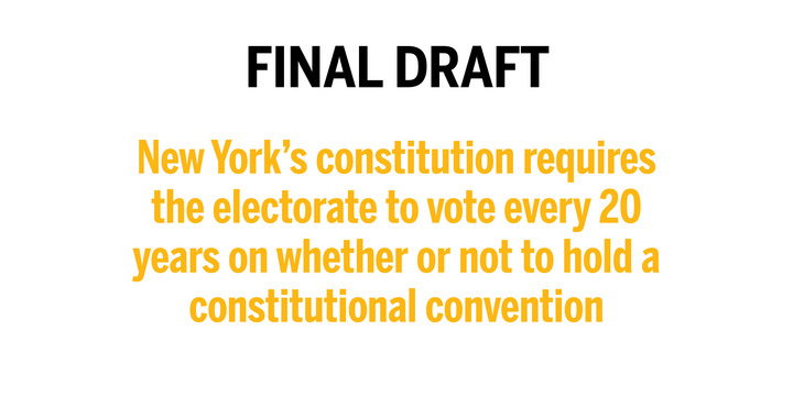 Constitutional convention would be risky