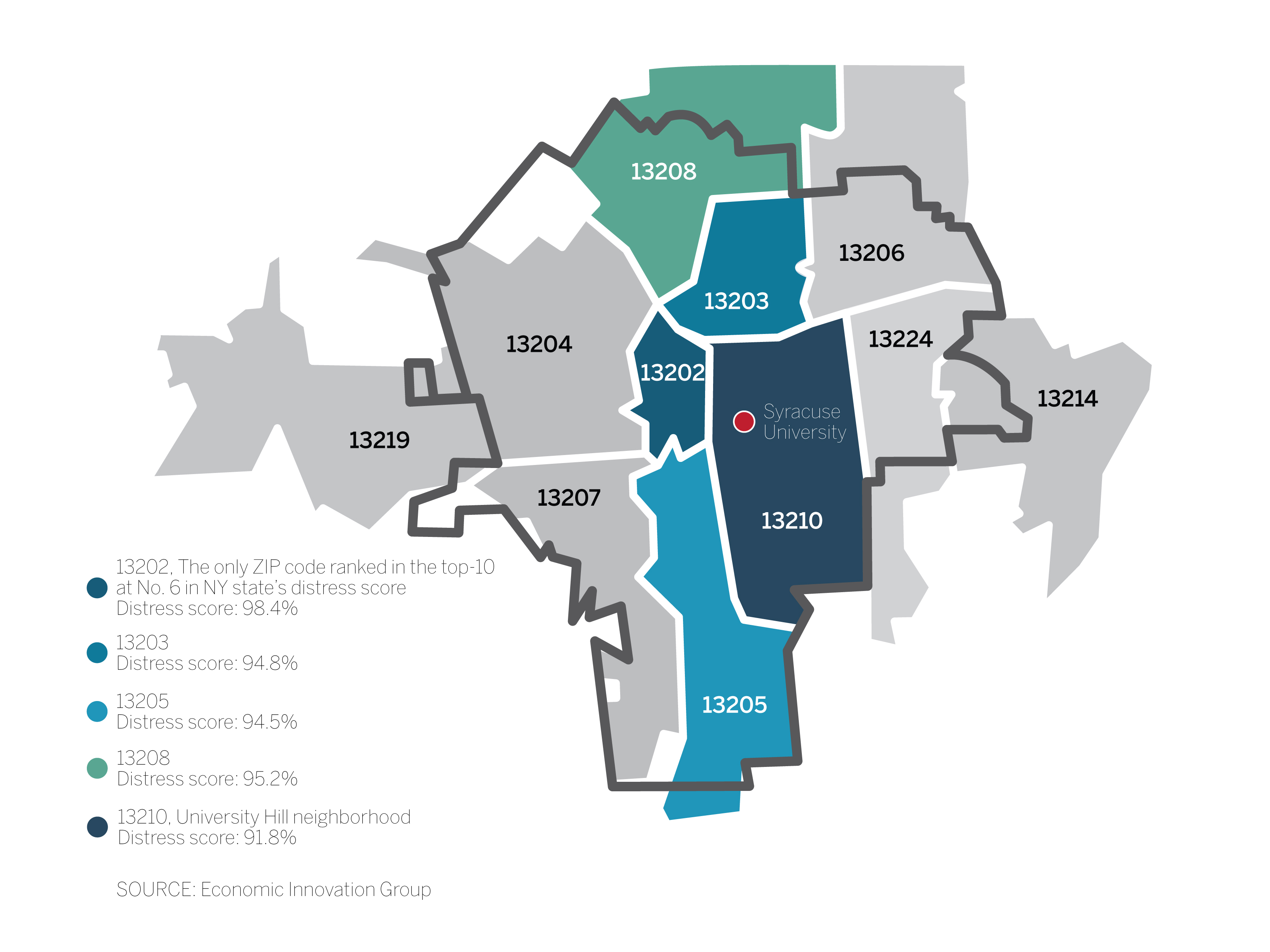 5 ZIP codes in Syracuse are among most economically ...