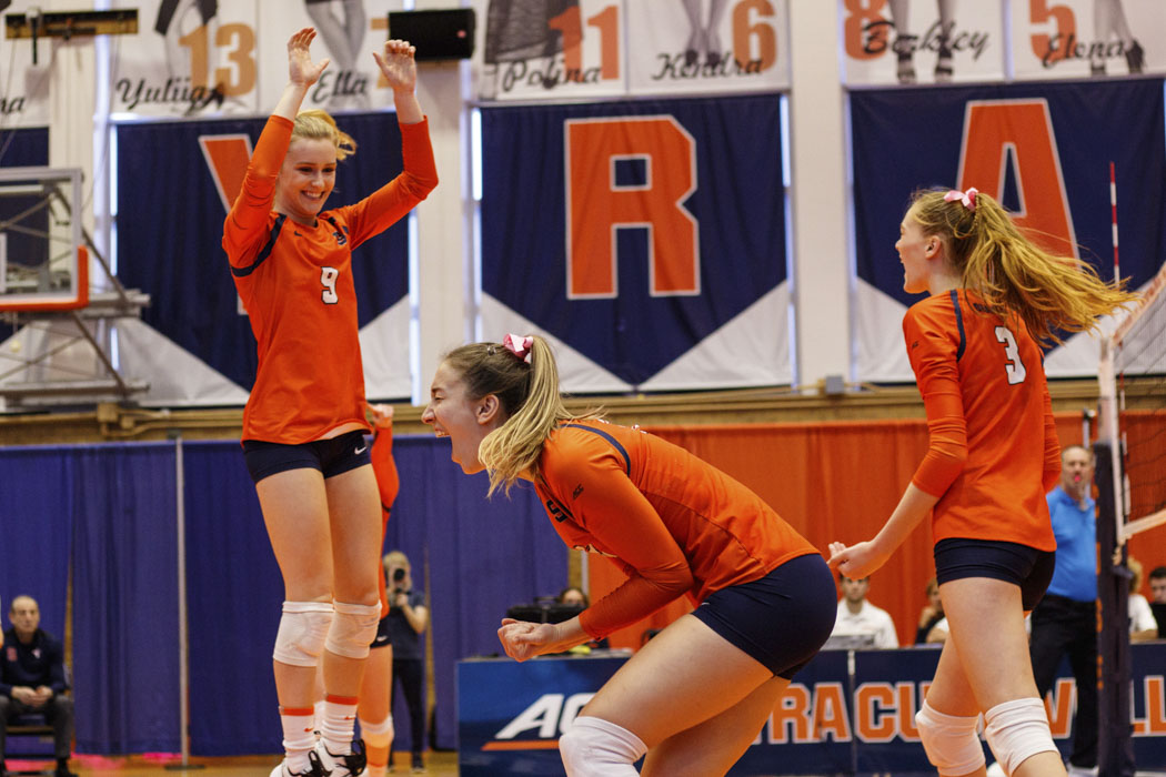 Syracuse defeats Virginia in straight sets to end a 3-game losing streak - The Daily Orange - The Independent Student Newspaper of Syracuse, New York