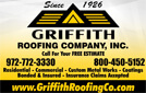 Website for Griffith Roofing Company
